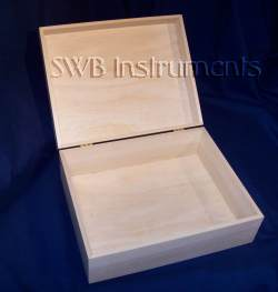 10x8x4 inch wood box, open view. Other sizes available.